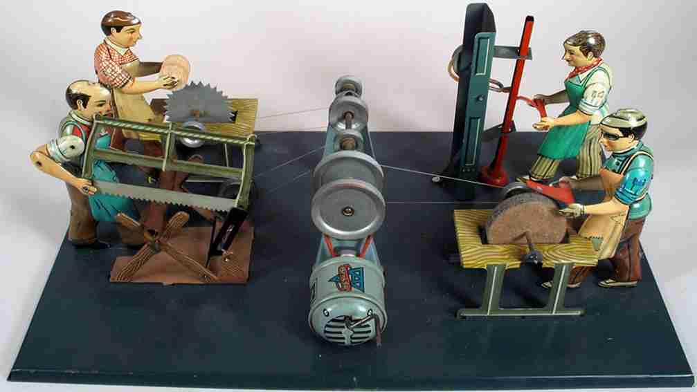 Arnold Antriebsmodell 4 Arbeitsstationen mit vier Handwerkern