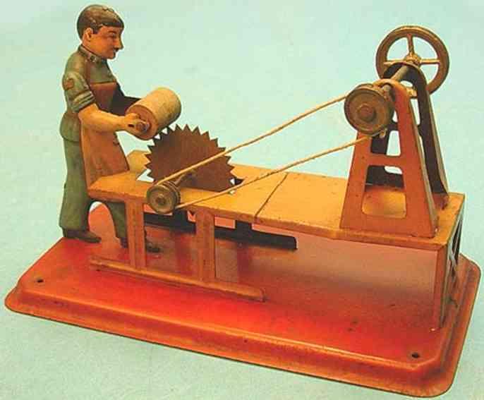 arnold dampfspielzeug antriebsmodell mann an säge mit hochtransmission