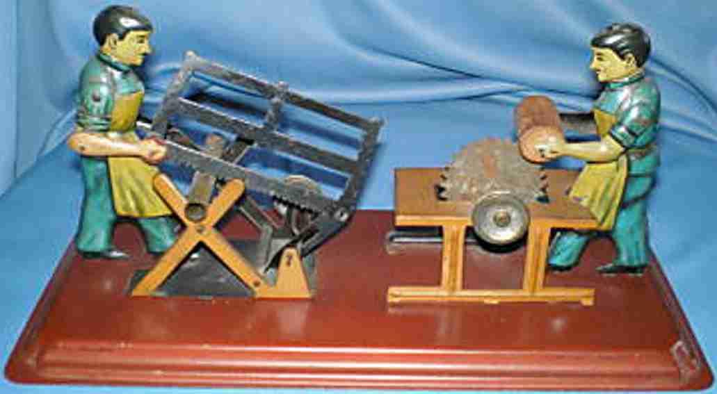 arnold dampfspielzeug antriebsmodell 2 maennerbuegelsaege kreissaege