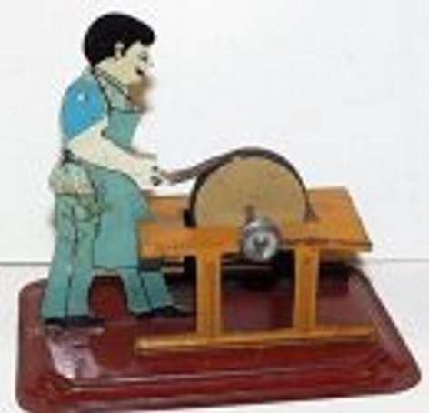 arnold steam toy drive model scissor sharpener, third version, red base