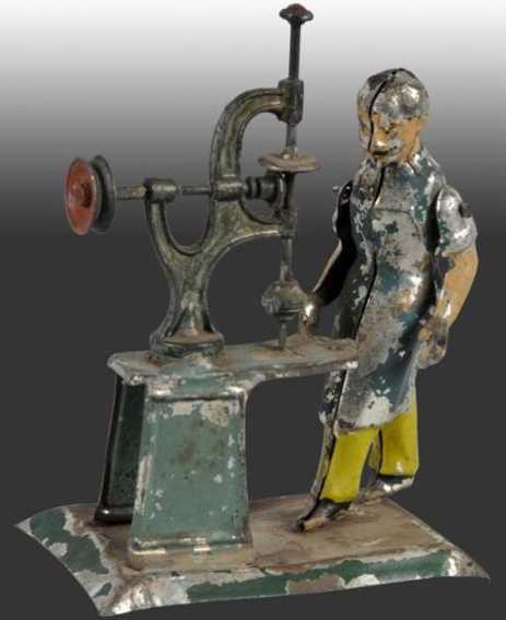 arnold dampfspielzeug antriebsmodell mann mit bohrmaschine auf sockel