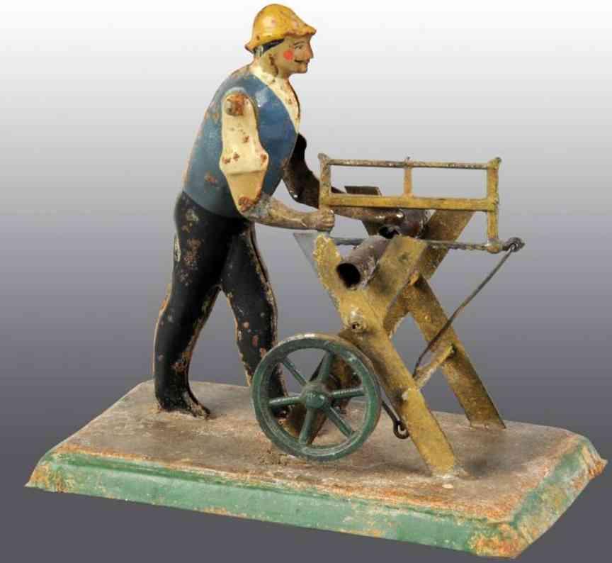Becker Antriebsmodell Mann mit Säge