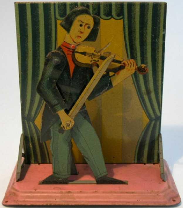 bing 10/2101 dampfspielzeug antriebsmodell violinenspieler