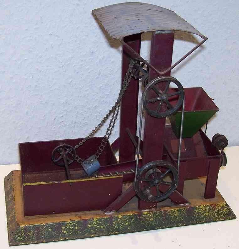 bing 10/2121 dampfspielzeug antriebsmodell baggerwerk sandbagger