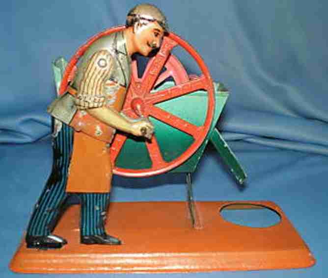 bing 10/243 oder 9956/334 steam toy drive model man at the wheel