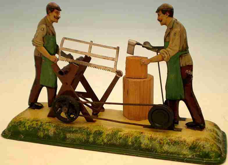 bing 10/247 dampfspielzeug antriebsmodell holzhauer saeger