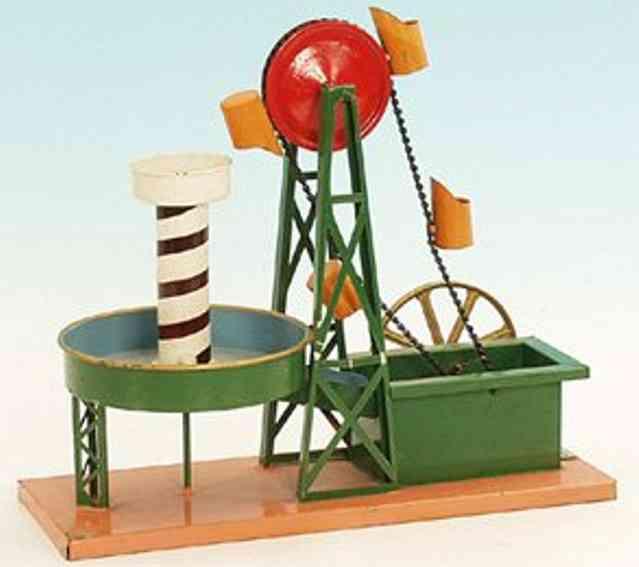 bing 10/282 dampfspielzeug antriebsmodell schoepfwerk