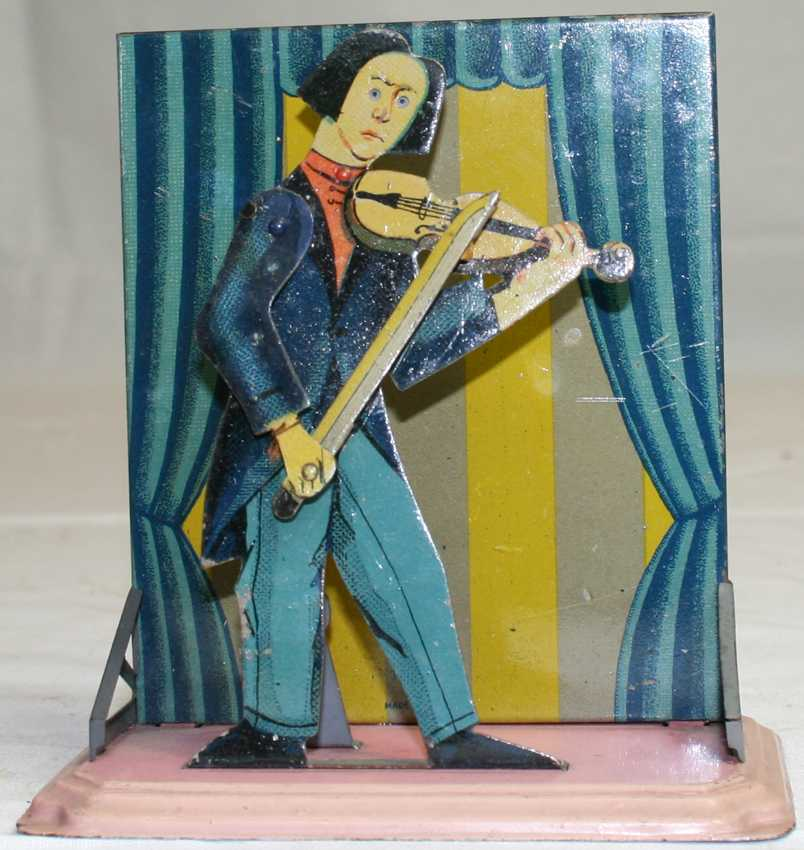 bing 8743/11 steam toy drive model musician with violin