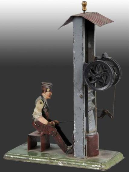bing 9956/359 steam toy drive model smith working a drop press