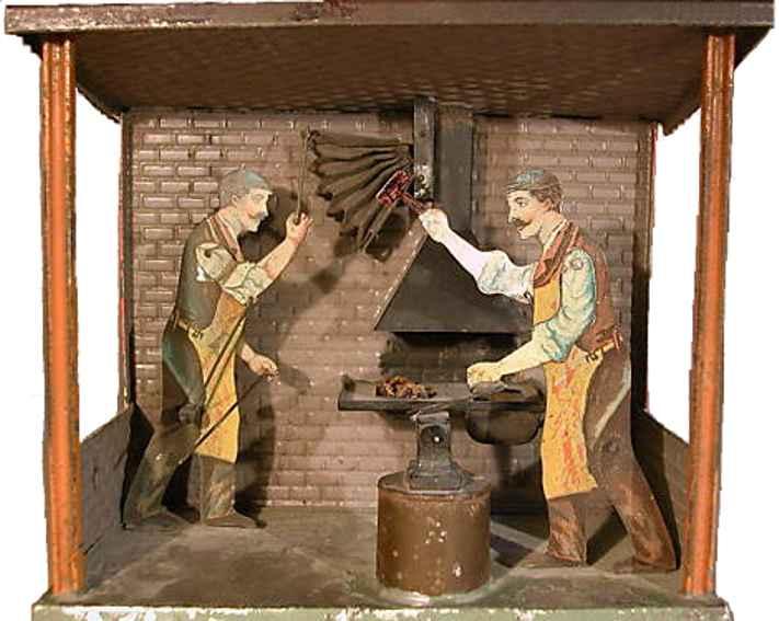 bing 9956/167 steam toy drive model blacksmith shop