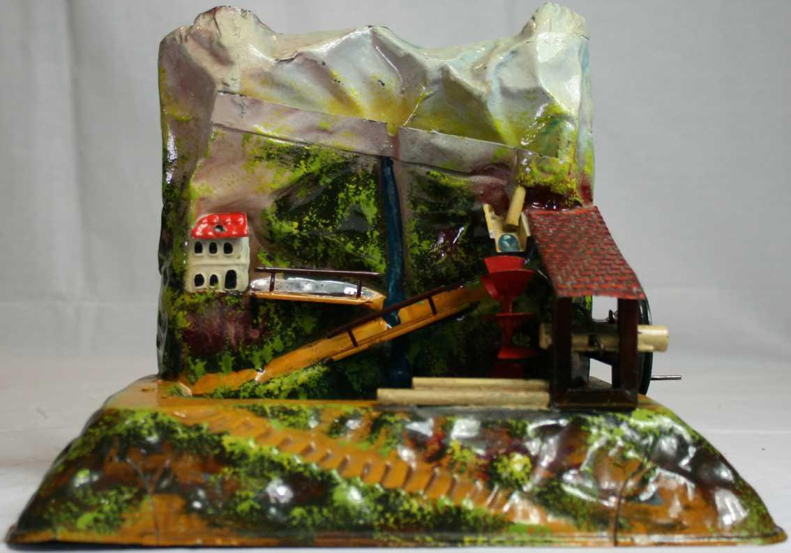 bing 9956/185 steam toy drive model mountain mill waterfall sawmill pumping station