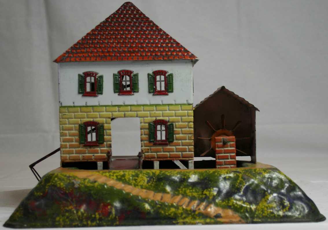 bing 9956/287 steam toy drive model watermill building basin wheel