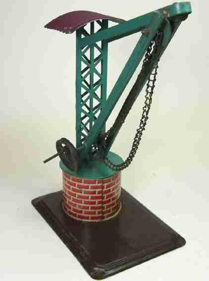 bing 9956/299 steam toy drive model crane