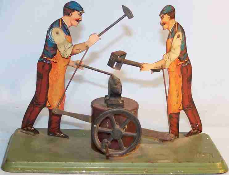 bing 9956/355 steam toy drive model blacksmith working at anvil