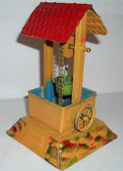 bing steam toy drive model well with ladling-bucket