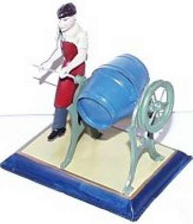 bing 9956/246 steam toy drive model man with butter churn
