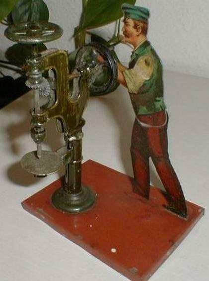 bing 9956/115 steam toy drive model factory worker