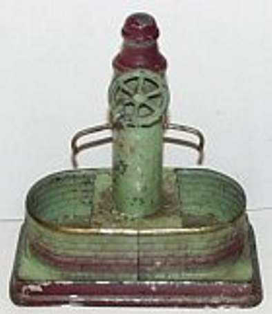 bing steam toy drive model  fountain with pump