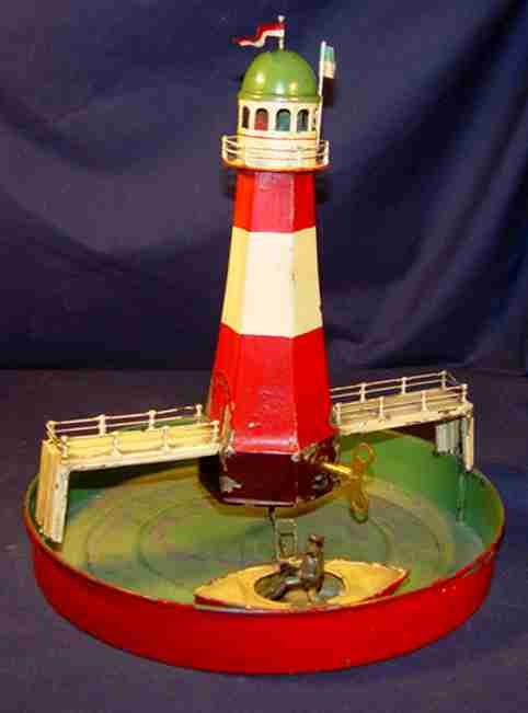 bing dampfspielzeug antriebsmodell leuchtturm