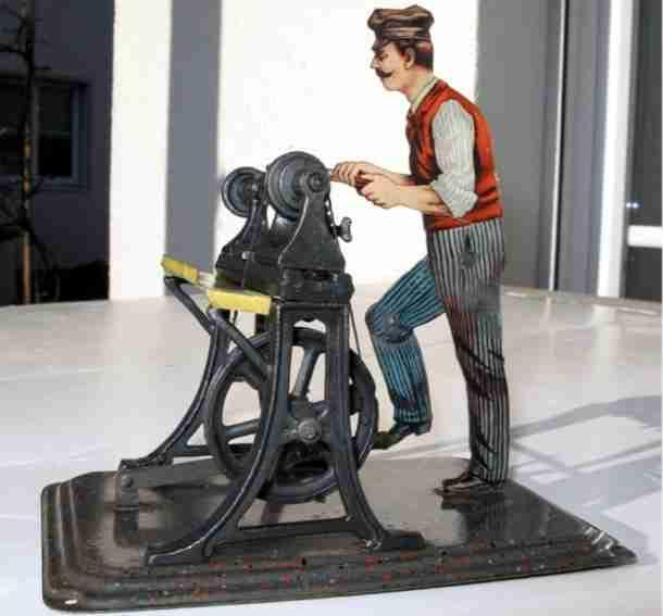 bing 9956/27 steam toy drive model man at lathe