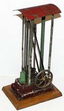bing 9956/213 steam toy drive model steam driven pile driver