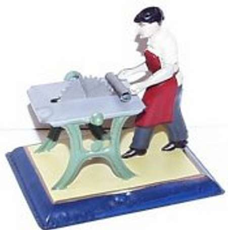 bing 9956/244 steam toy drive model man sawing wood