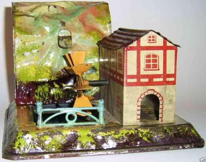 bing 9956/70 steam toy drive model waterwork massif building waterwheel