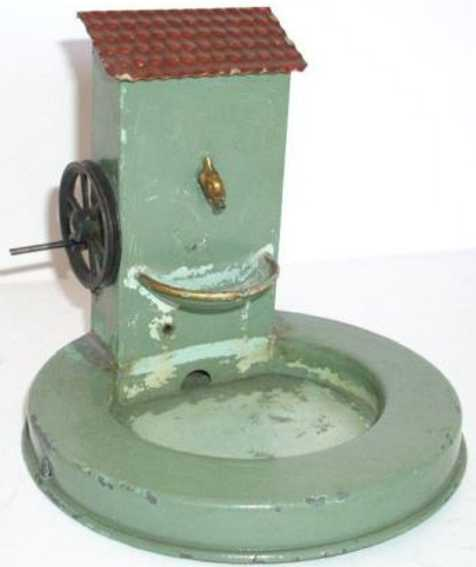 bing 9956/422 steam toy drive model wall fountain with pumping station