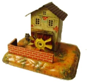 bing 9956/305 steam toy drive model trip hammer with watermill
