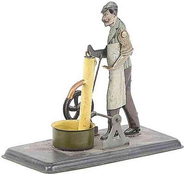 bing dampfspielzeug antriebsmodell mann an wasserpumpe
