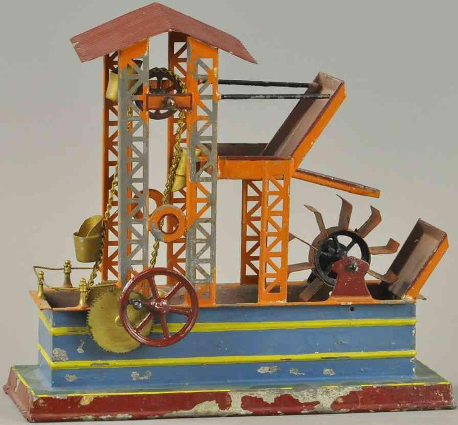 bing dampfspielzeug antriebsmodell dampfbetriebenes wasserrad