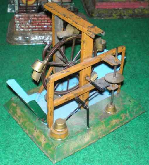 bing dampfspielzeug antriebsmodell hammerwerk wasserrad bassin