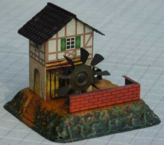 bing 9956/319 steam toy drive model watermill with trip hammer