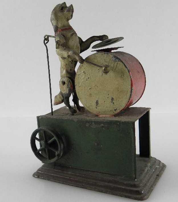 bing dampfspielzeug antriebsmodell hunde mit trommel