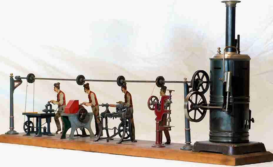 bing 8902 steam toy drive model large steam engine plant workshop