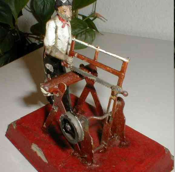 bing 9956/472 steam toy drive model worker with saw
