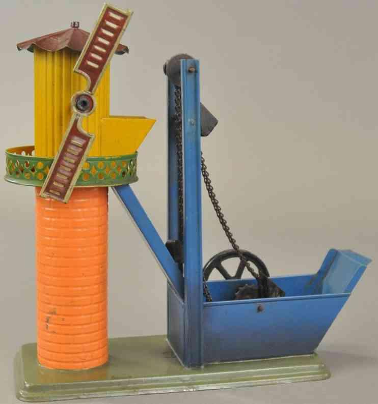bing dampfspielzeug antriebsmodell schoepfwerk windmuehle