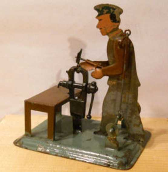 karl bub steam toy drive model worker at the vise