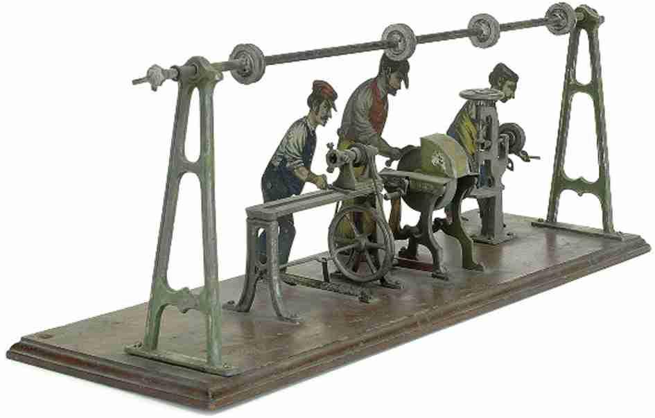 Carette Antriebsmodell 4 Männer an Bearbeitungsmaschinen Presse Schleifscheibe Drehbank