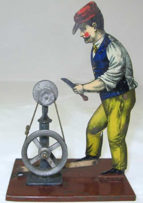 carette 625p steam toy drive model polischer, man at the grinding stone
