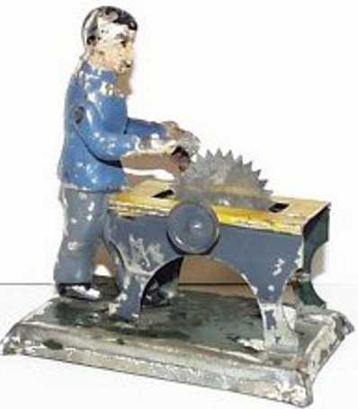 carette dampfspielzeug antriebsmodell mann an säge