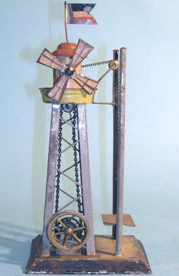 Carette Antriebsmodell Windrad mit Aufzug handlackiert