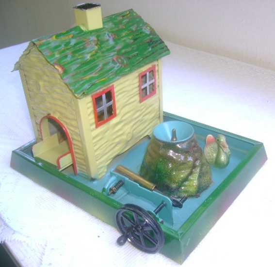 doll 704 steam toy drive model duck house with fountain and water pump