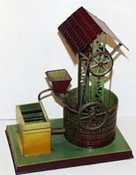 doll 628/1 dampfspielzeug antriebsmodell ziehbrunnen mit kippe