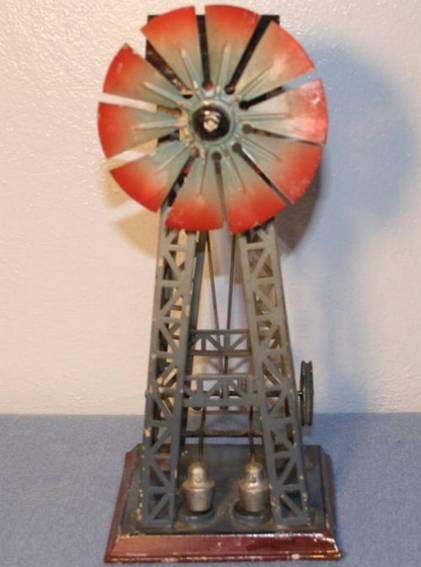 doll 688 steam toy drive model windmill with two trip hammers