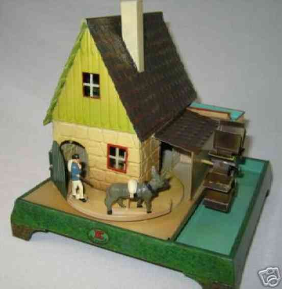 doll 702 steam toy drive model mill house pumping station waterwheel
