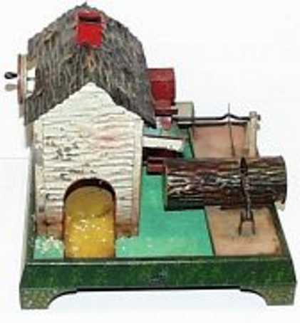 doll 705 steam toy drive model watermill with log saw