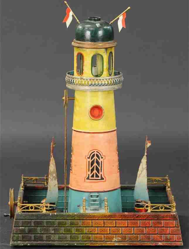 doll 711 dampfspielzeug leuchtturm mit ruderbooten als antriebsmodell