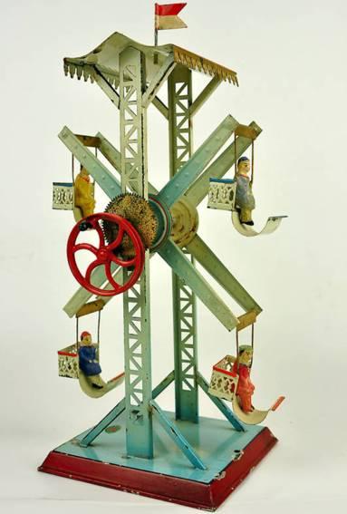 doll 729/1 steam toy drive model ferris wheel 4 gondolas