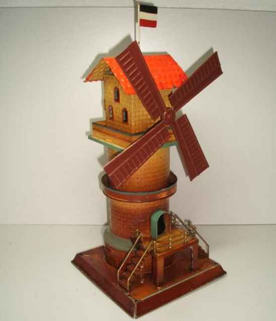 doll 748/3 steam toy drive model windmill with rail